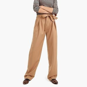 J. Crew Collection • Tie-Waist Wide Leg Pants